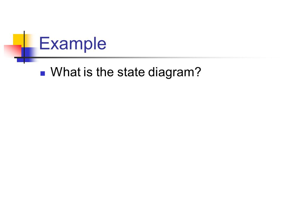 Example What is the state diagram