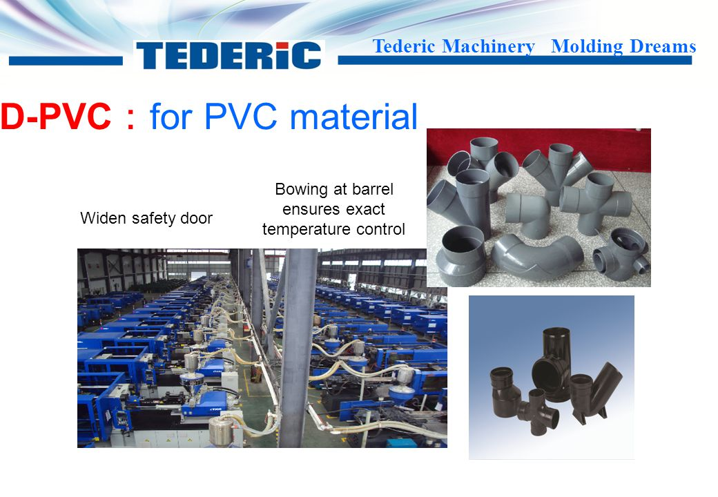 Tederic Machinery Molding Dreams D-PPR: for PPR material --------special design PPR screw