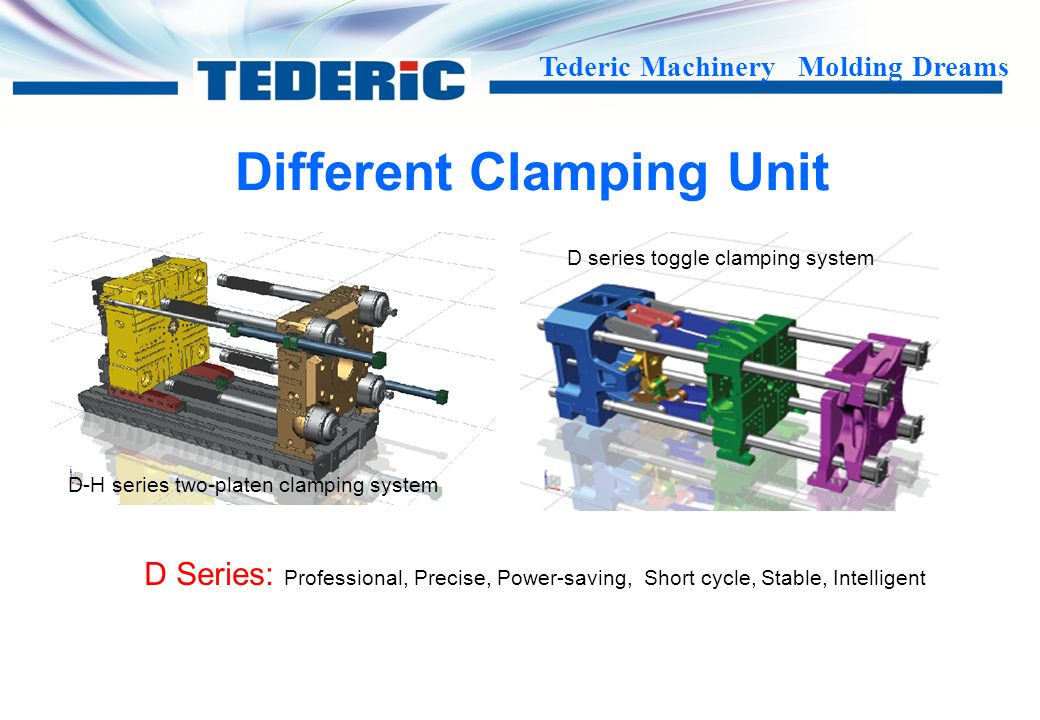 Tederic Machinery Molding Dreams Different Injection Unit D-M Series D Series D-J Series