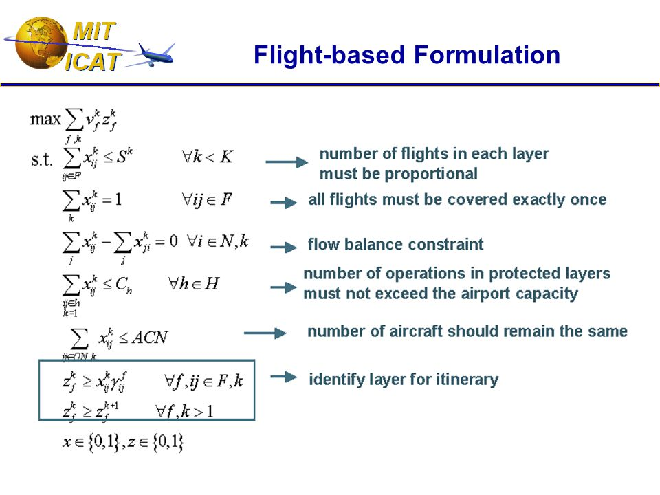 Flight-based Formulation
