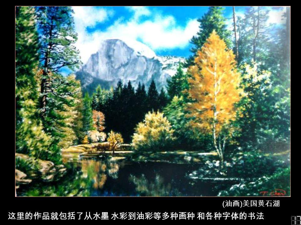 感应笔有多种笔刷 运用不同笔触 选择电脑的各种指令 达致所需效果 ( 油画 ) 加州优胜美地风景