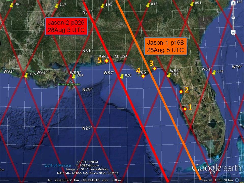 Jason-1 p168 28Aug 5 UTC Jason-2 p026 28Aug 5 UTC ` `