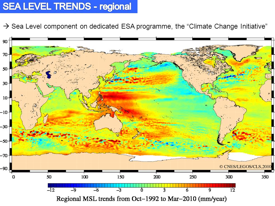  Sea Level component on dedicated ESA programme, the Climate Change Initiative