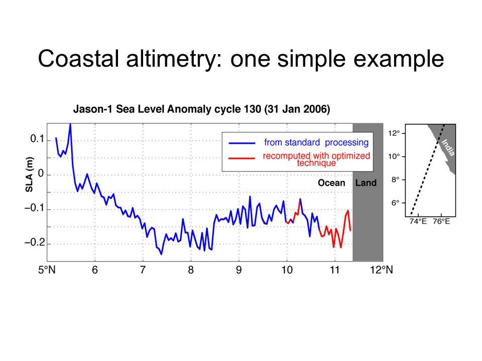 Coastal altimetry: one simple example