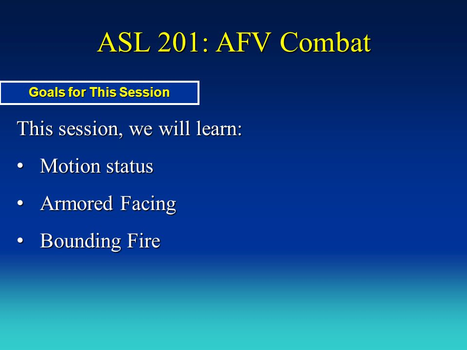 ASL 201: AFV Combat Demo Charge.Automatic Shock.