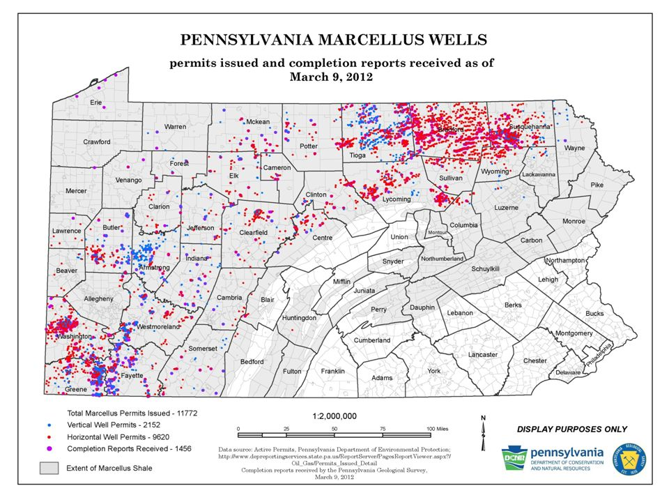 MARCELLUS WELLS IN PENNSYLVANIA Permits Issued and Wells Drilled as of November 30, 2011