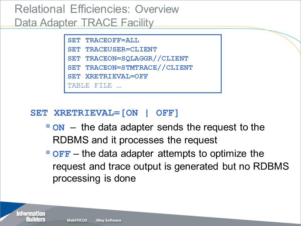 Copyright 2007, Information Builders. Slide 9 JOIN Scenarios
