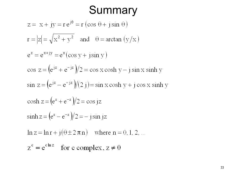 33 Summary