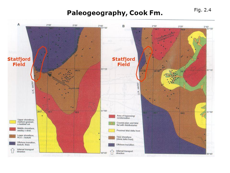 Paleogeography, Cook Fm. Statfjord Field Fig. 2.4