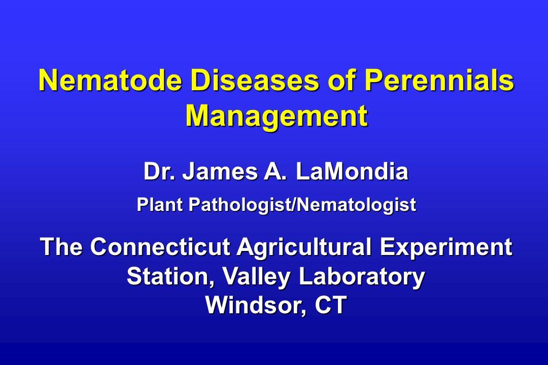 Nematode Diseases of Perennials Management Dr. James A.