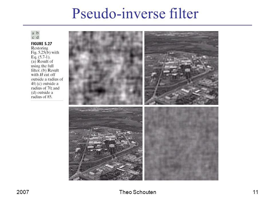 2007Theo Schouten11 Pseudo-inverse filter