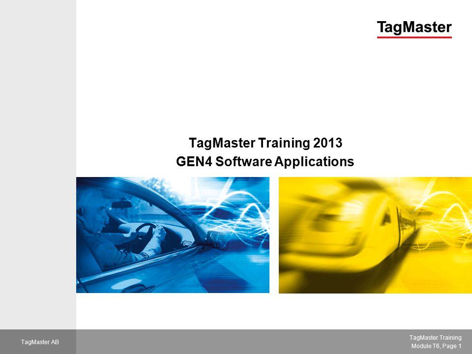 TagMaster Training Module T6, Page 12 TagMaster AB WiseMan Terminal interface with WiseMan settings