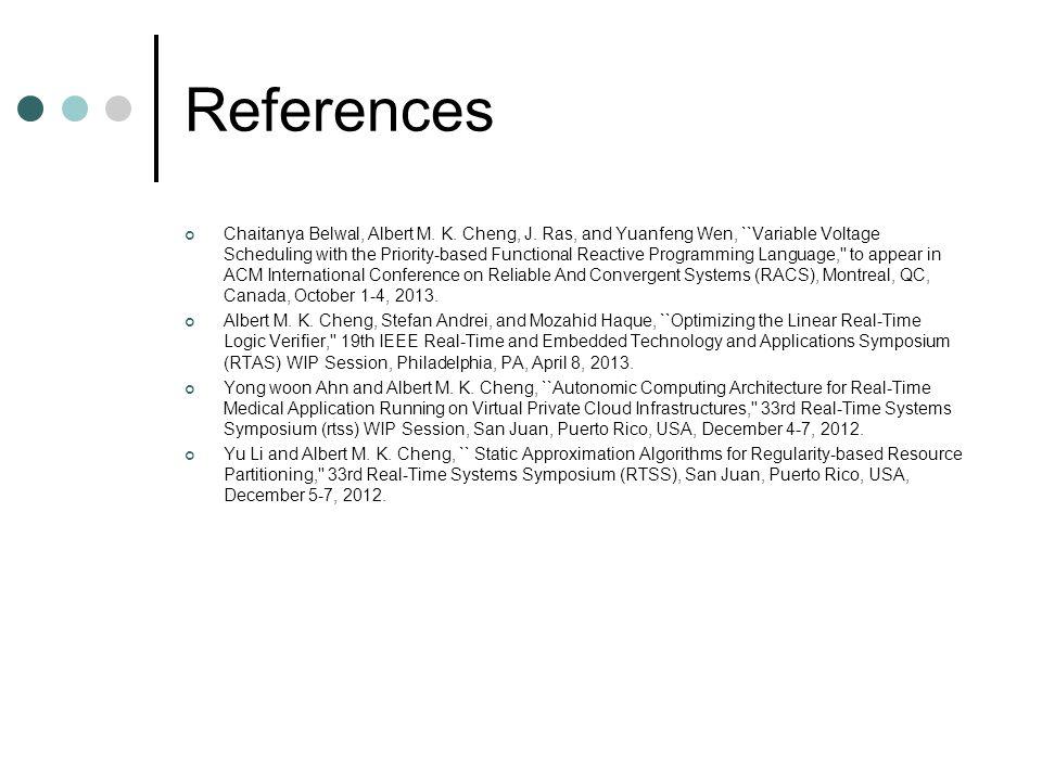 References Chaitanya Belwal, Albert M. K.