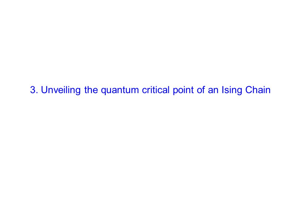 3. Unveiling the quantum critical point of an Ising Chain