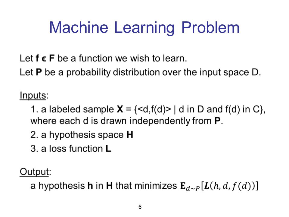 Machine Learning Problem 6