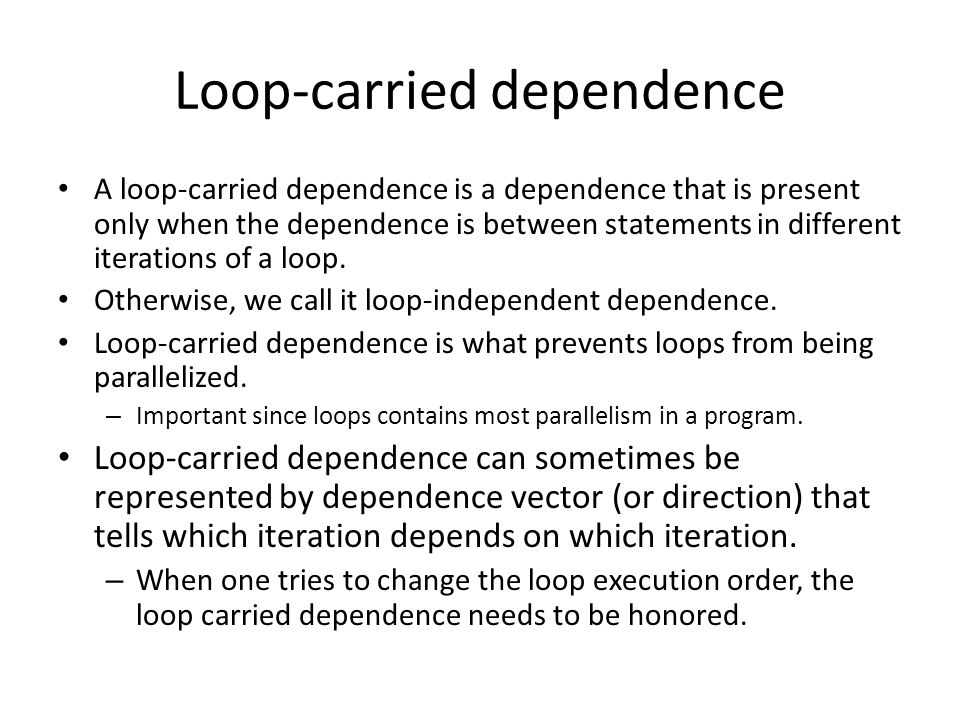 Loop optimization in action Loop unrolling (method 5) for (j=1; j<=N; j+=t) for(k=1; k<=N; k+=t) for(I=1; i<=N; i+=t) for (ii=I; ii<=min(I+t-1, N); ii++) for (jj = j; jj<=min(j+t-1,N);jj++) { t = c(ii, jj); t = t + A(kk, ii) * B(kk, jj); t = t + A(kk+1, ii) * B(kk+1, jj); …… t = t + A(kk+15, ii) * B(kk + 15, jj); c(ii, jj) = t } This assumes the loop can be nicely unrolled, you need to take care of the boundary condition.