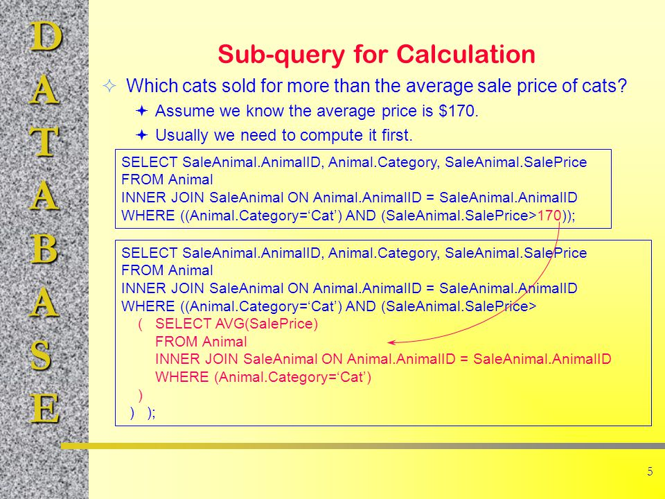 DATABASE 6 Query Sets (IN) List all customers (Name) who purchased one of the following items: 1, 2, 30, 32, 33.