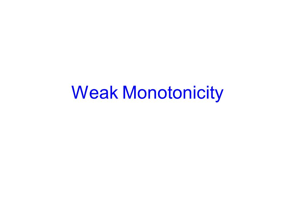 Weak Monotonicity