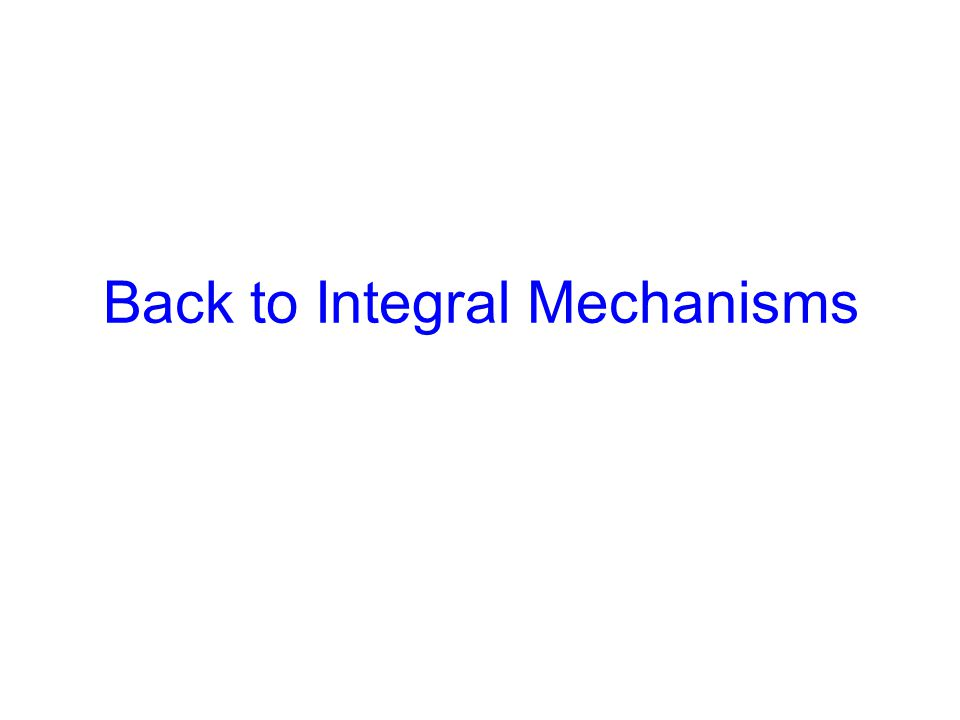 Back to Integral Mechanisms