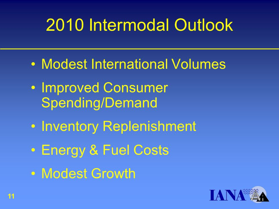 2010 Intermodal Outlook Modest International Volumes Improved Consumer Spending/Demand Inventory Replenishment Energy & Fuel Costs Modest Growth 11