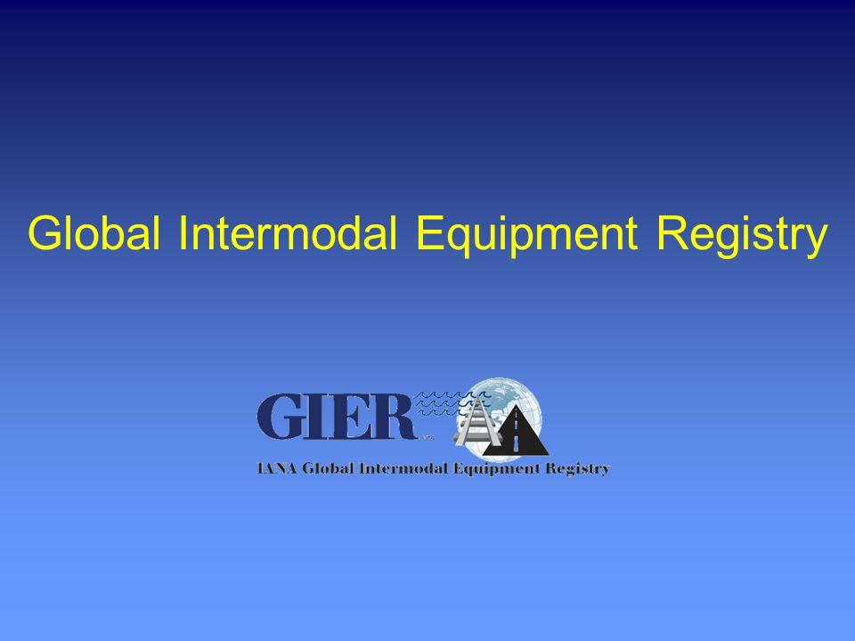 Global Intermodal Equipment Registry