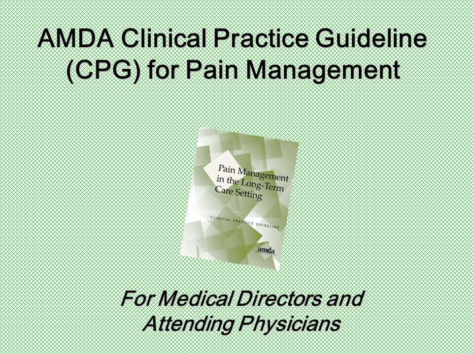 Introduction to Pain   Pain is common in the long-term care setting.