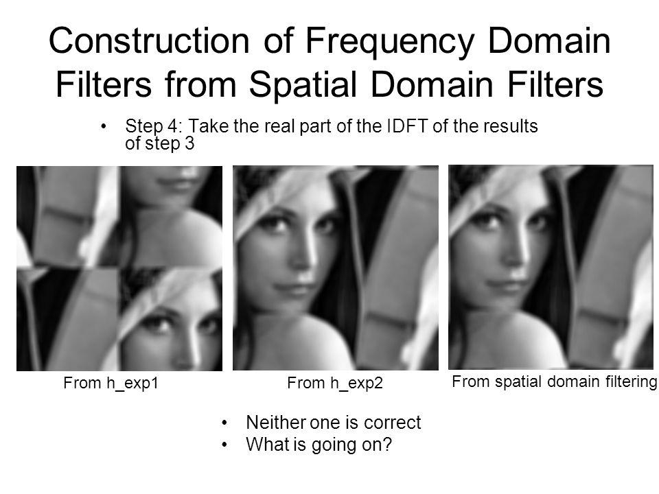 Spatial Filtering vs.
