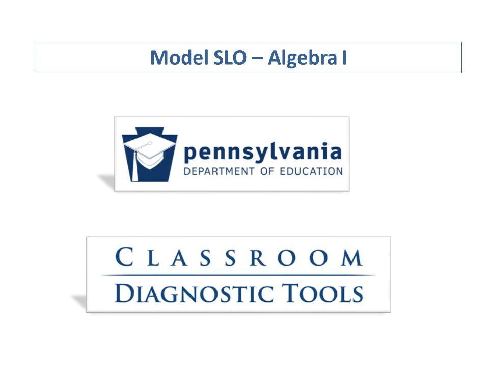 Model SLO – Algebra I