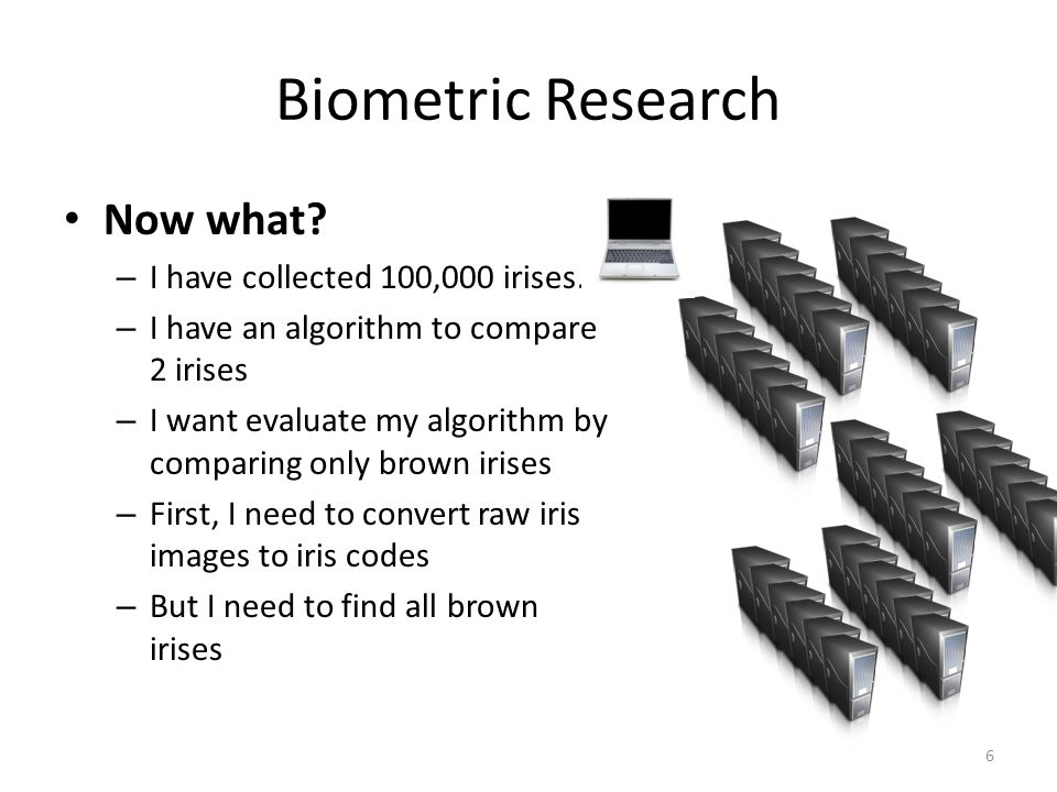 Biometric Research Now what. – I have collected 100,000 irises.