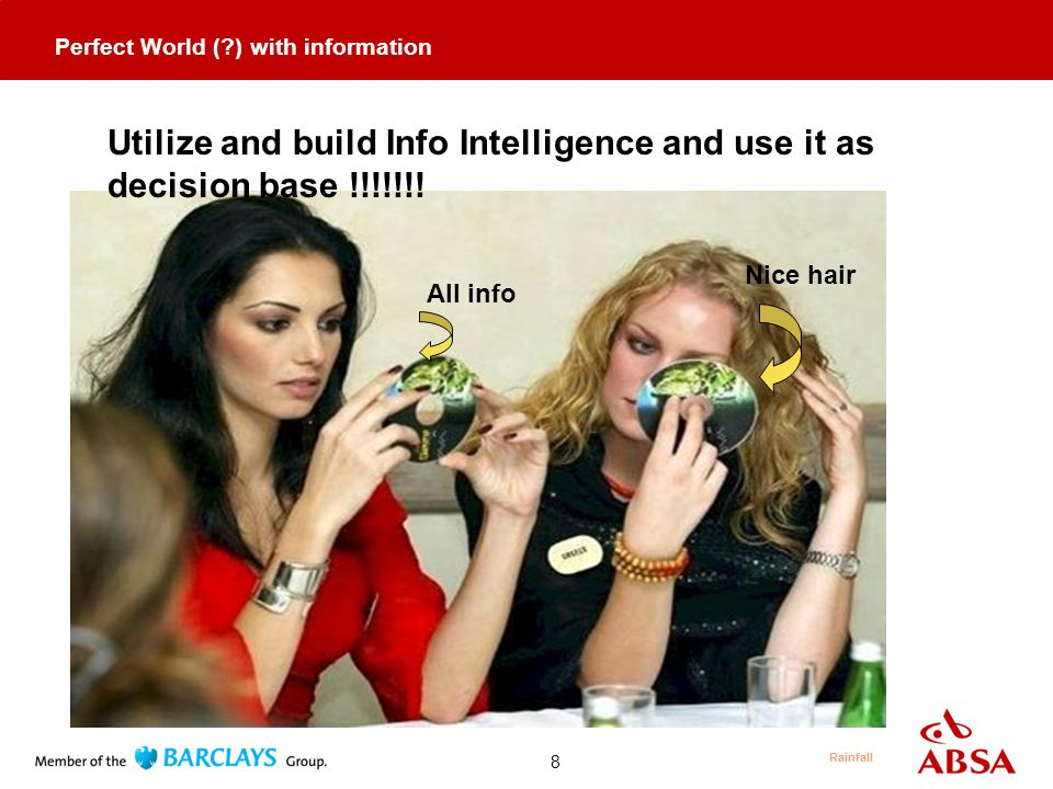 8 Utilize and build Info Intelligence and use it as decision base !!!!!!.