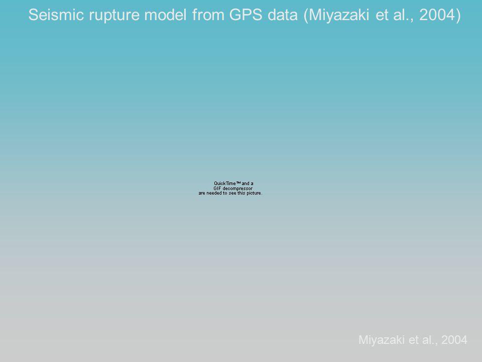 Seismic rupture model from GPS data (Miyazaki et al., 2004) Miyazaki et al., 2004