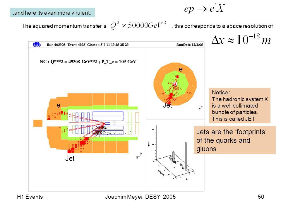 H1 EventsJoachim Meyer DESY 200550.and here its even more virulent.