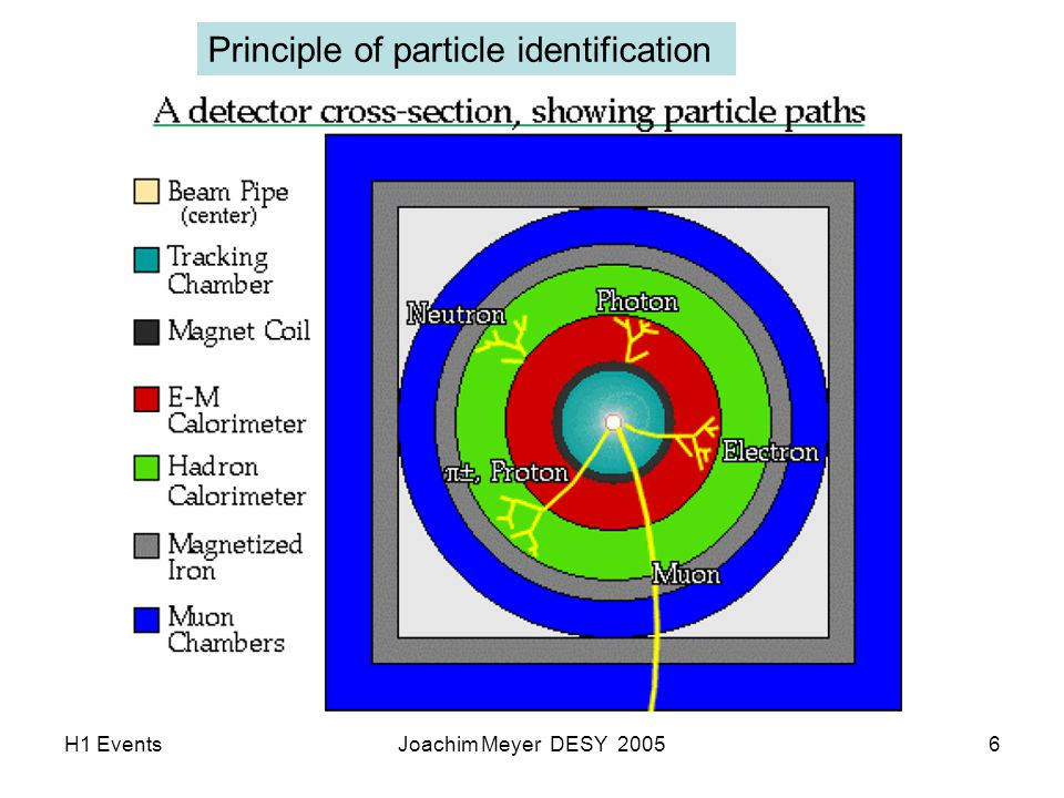 H1 EventsJoachim Meyer DESY 20057 Principle of particle identification