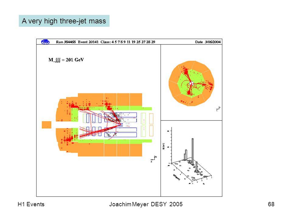 H1 EventsJoachim Meyer DESY 200568 A very high three-jet mass