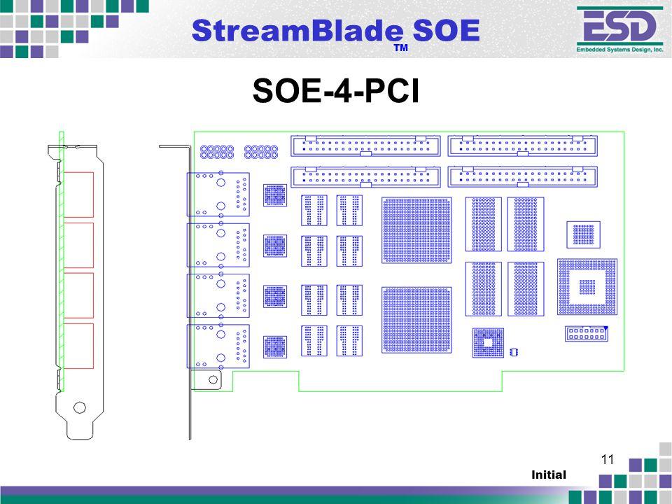 StreamBlade SOE TM Initial 11 SOE-4-PCI
