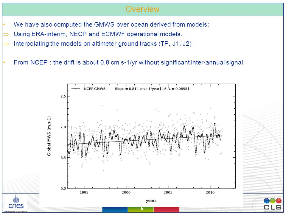 26/11/2012 – Observatoire de Paris - 6 - Are there error in the GMWS evolution derived from altimetry ?