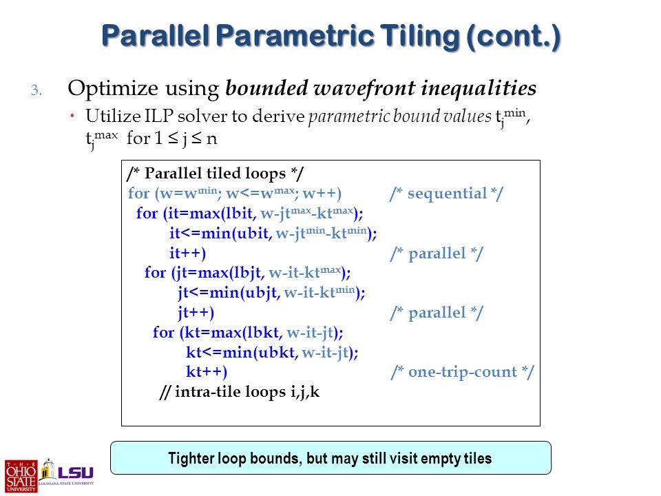 Parallel Parametric Tiling (cont.) 3.