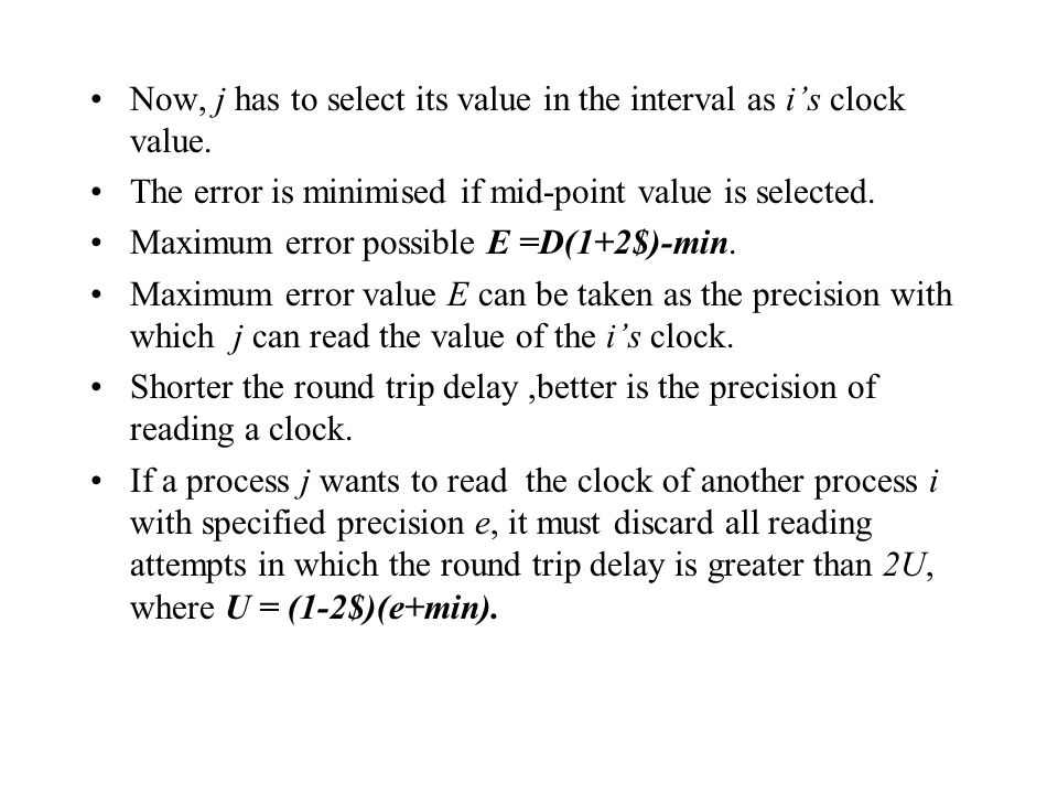 Now, j has to select its value in the interval as i's clock value.