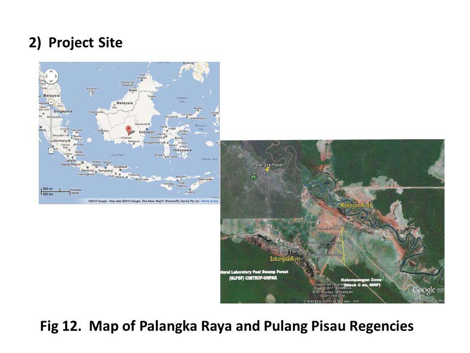 2) Project Site Fig 12. Map of Palangka Raya and Pulang Pisau Regencies