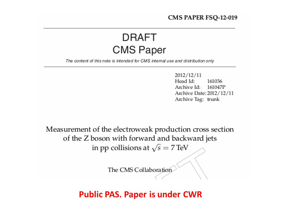 Public PAS. Paper is under CWR