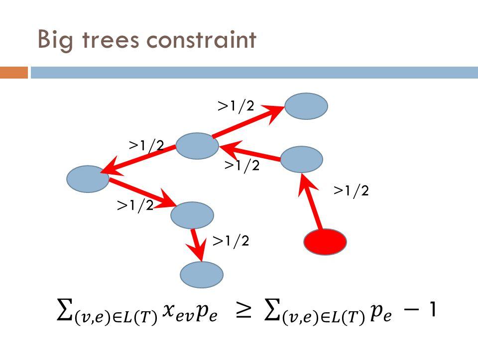 >1/2 Big trees constraint