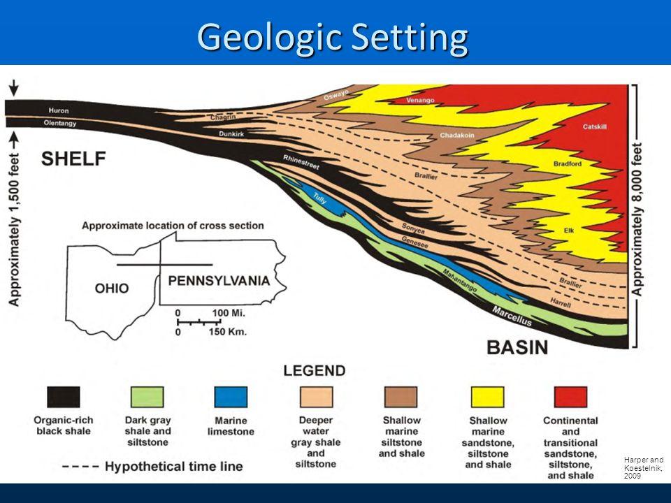 Geologic Setting Harper and Koestelnik, 2009