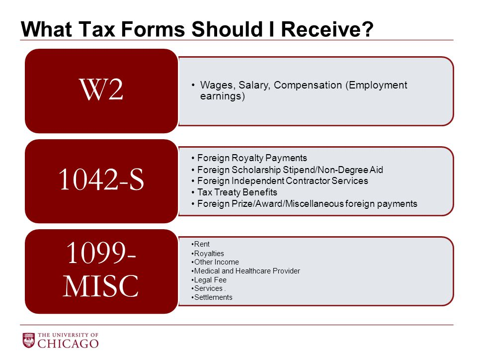 What Tax Forms Should I Receive.