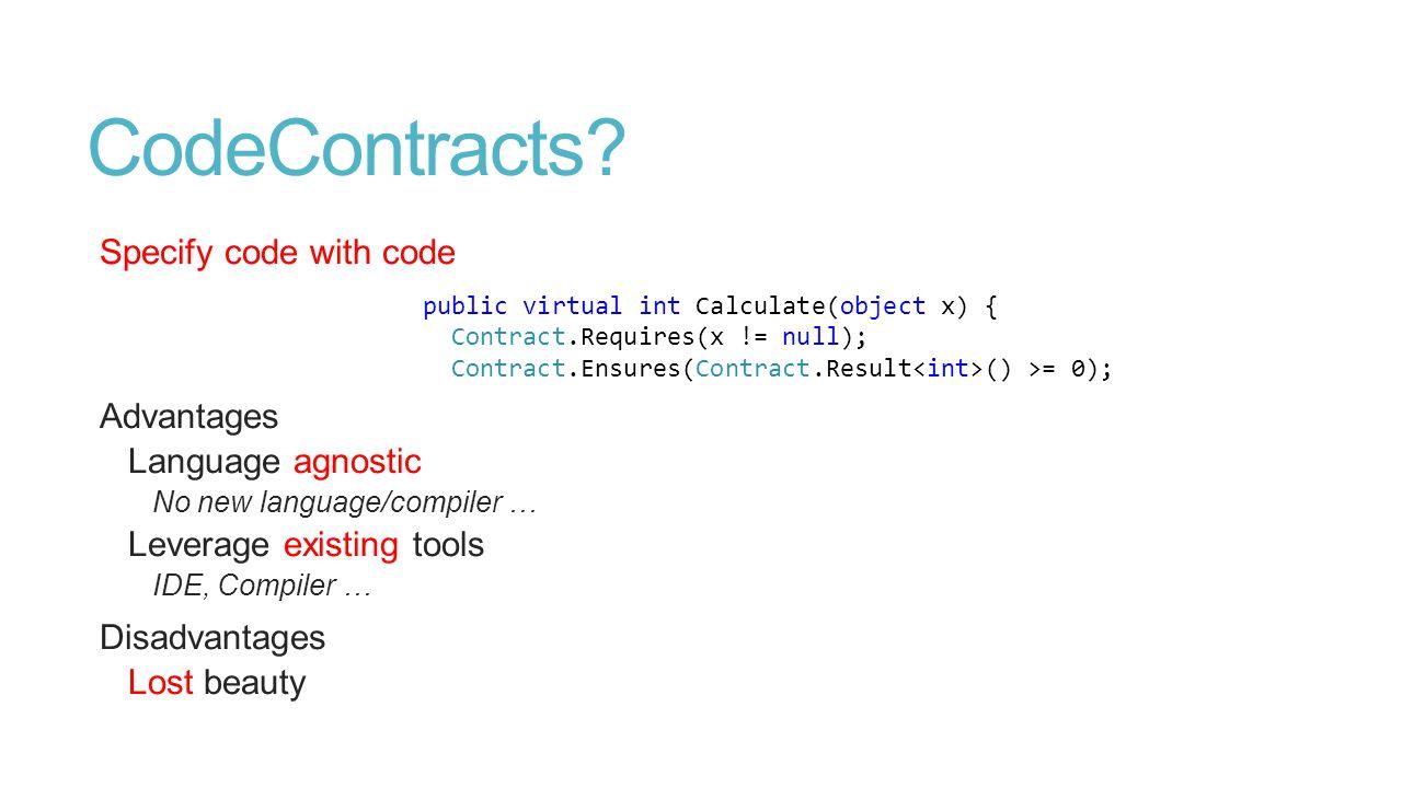 CodeContracts.