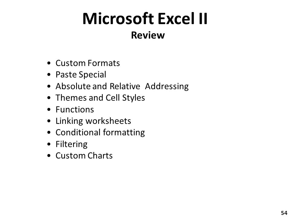 Microsoft Excel II Special Formats Select the Home Ribbon and – Linking Worksheets in Excel