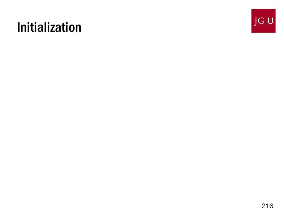216 Initialization