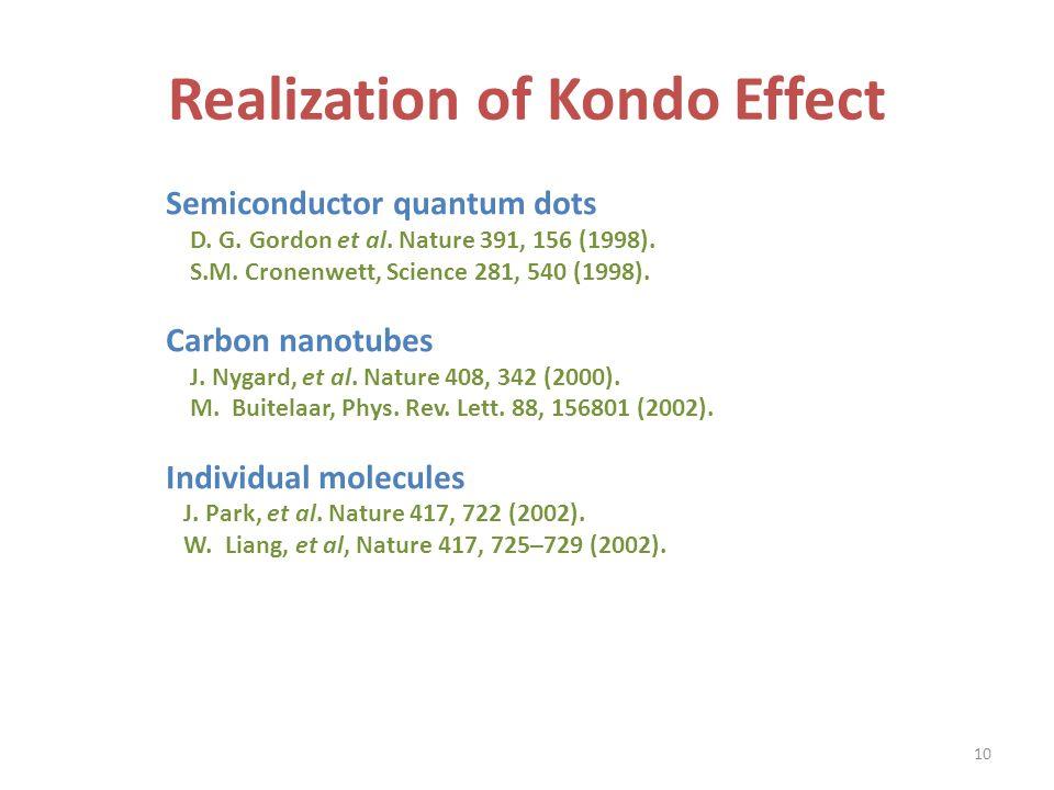 Realization of Kondo Effect Semiconductor quantum dots D.