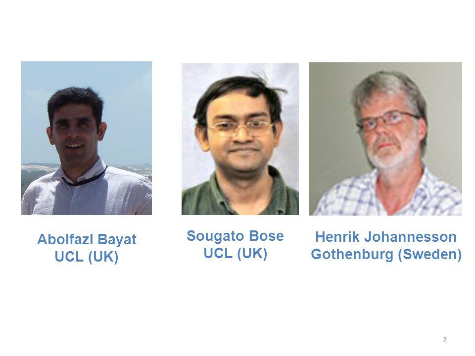 Abolfazl Bayat UCL (UK) Sougato Bose UCL (UK) Henrik Johannesson Gothenburg (Sweden) 2