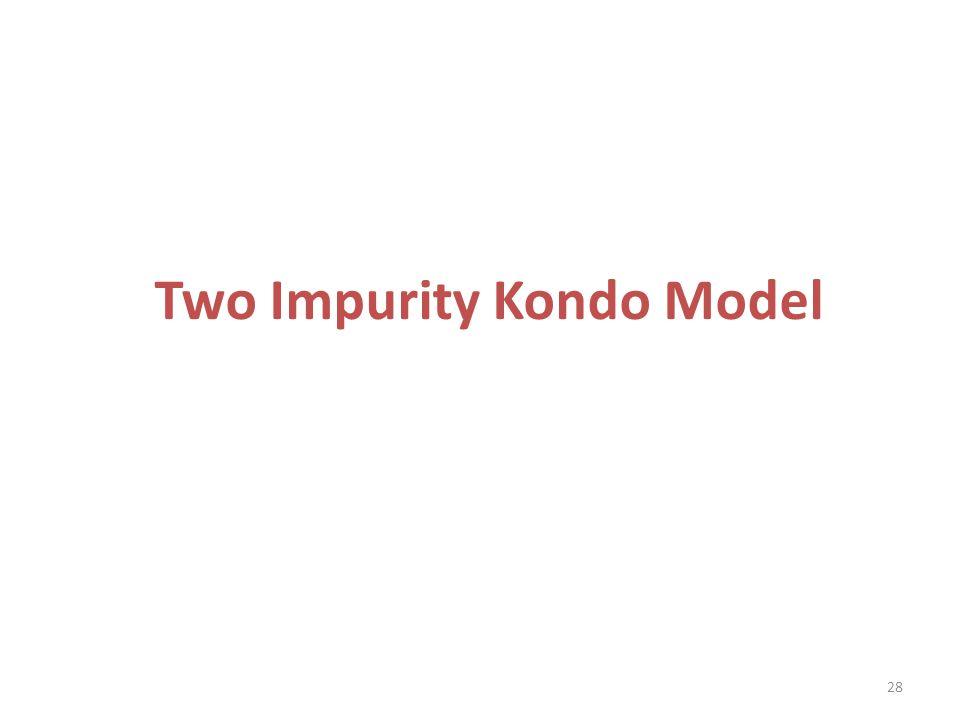 Two Impurity Kondo Model 28