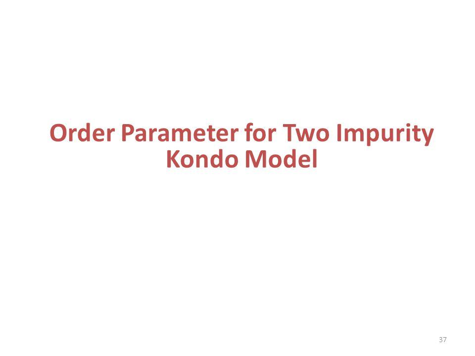 Order Parameter for Two Impurity Kondo Model 37
